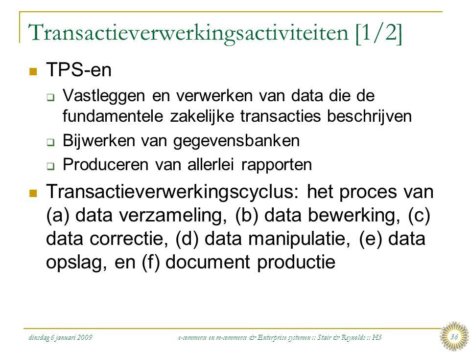 Transactieverwerkingsactiviteiten [1/2]